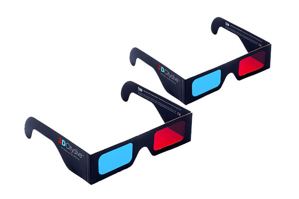 2 pairs of 3D glasses
